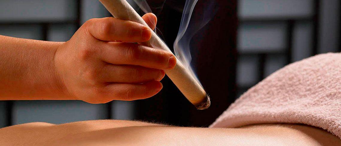 Цзю-терапия (прогревание полынными сигарами)